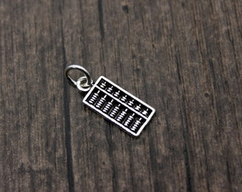 Sterling Silver Abacus Charm Pendant,Gift for Accountant