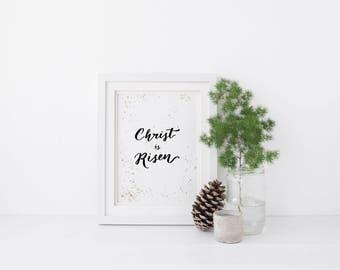 Christ is Risen Art Print, A5 Art Print, Easter Art Print, Christian Art Print, Christian Gifts