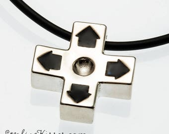 D-pad NES Controller Pendant in Sterling Silver (BITCOIN ACCEPTED)