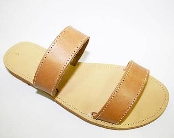ON SALE Handmade Greek Sandals with White Platform