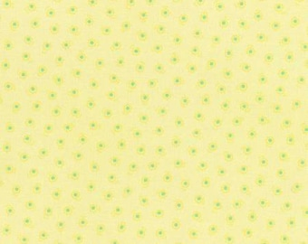 Flower Sugar Spring 2015 Yellow Floral Cotton Fabric  by Lecien 31132-50