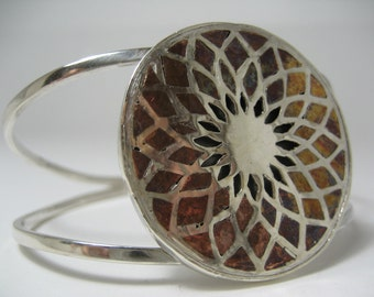Dream Catcher Silver Cuff