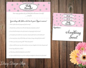 Baby Shower Game - Daddy Knows Best - Includes Answer Sheets for Guests and Answer Reveal Cards for Host