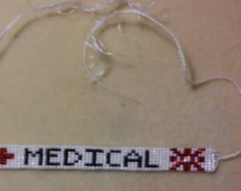 Medical Beaded Alert Bracelet