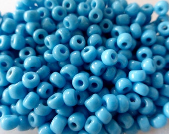 Antique Venetian Turquoise Blue 8/0 Glass Seed Beads 50g bag