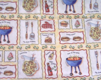 1 Yd. BBQ-Barbecue Cotton Fabric