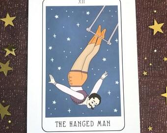 The Hanged Man Tarot Card Illustration 5x7 Fine Art Print