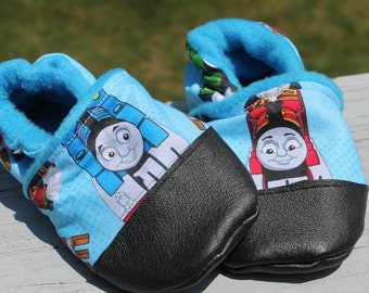 Thomas The Train Shoes Soft Soled Baby / Toddler Leather first Birthday shoes Party Outfit