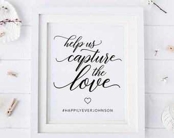 Wedding hashtag sign, hashtag sign, wedding hashtag, wedding sign, instagram sign, social media sign, wedding printable, instagram wedding
