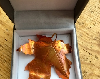 Copper Maple Leaf brooch