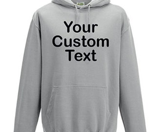 Custom Hoodie - Heather Grey