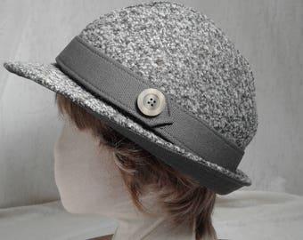Gray Tweed Soft Fedora