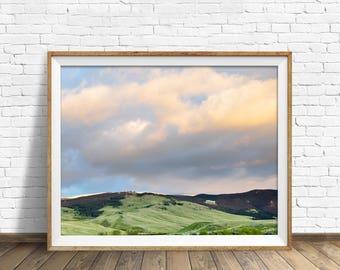"landscape wall art, instant download printable art, printable wall decor, printable wall art, large art, download prints - ""Green Hills"""