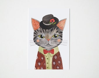 Cool Cat - postcard