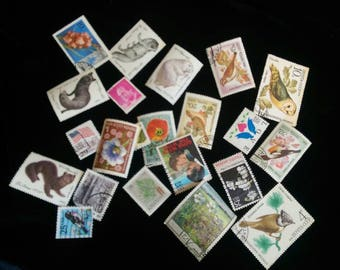 International postage stamps for journals and scrapbooks