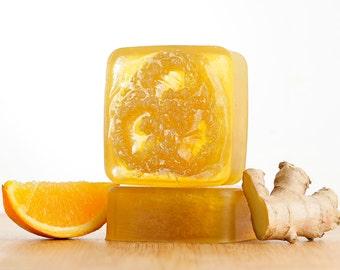 Men's Orange Ginger Soap, Ginger Soap, Orange Soap, Handmade Soap, Loofah Soap, Glycerin Soap, Bar Soap