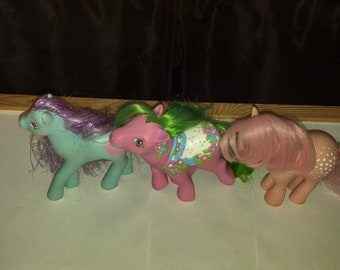 Vintage Lot Of 3 G1 My Little Ponys