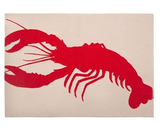 Set of 4 Rare and Sold out Designer Lobster Placemats by Thomas Paul Price for 4 total