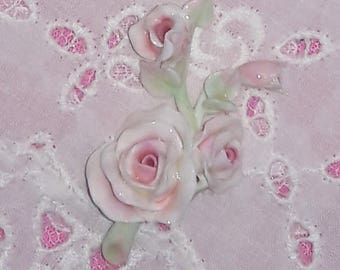Shabby Chic Pink Miniature Roses - set of 3