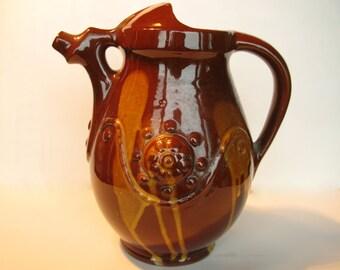 Vintage Wine Pitcher Pottery Wine Pitcher Wine Carafe