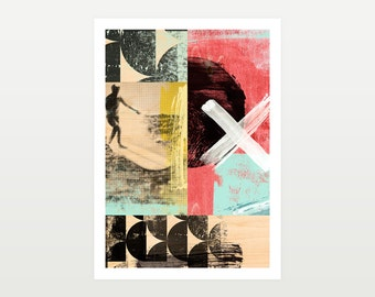 Large Surfer Giclee Art Print