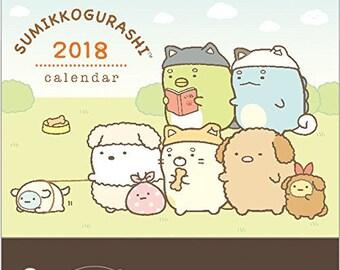 SALE San-X Sumikko Gurashi 2018 Calendar -  Desktop Calendar