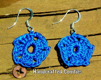 Crochet pentagon earrings