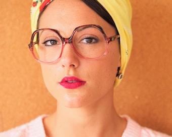 Vintage 70's Eyeglass New Oversize/Old Stock/Retro 1970's Frames Multi Color Glasses made In France
