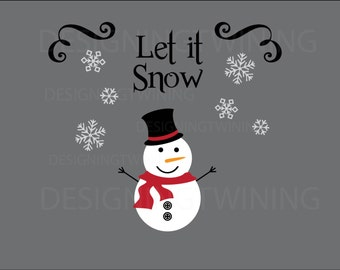 Snowman SVG PNG DXF file