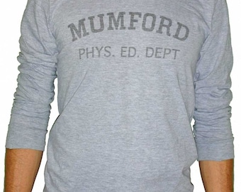 Mumford Phys Ed Dept Axel Foley Beverly Hills Cop Movie Screenprint Tshirt