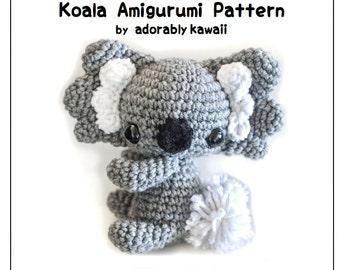 Koala Amigurumi Crochet Pattern, Koala Bear Doll, Nursery Toy, Cute Animal Plush, PDF Pattern, Crochet Amigurumi, Kawaii Koala Plushie Toy
