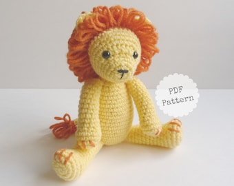 Amigurumi Lion Crochet Pattern, PDF Download