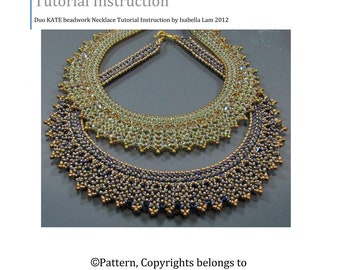 DUO KATE SuperDuo Beadwork Necklace Pdf tutorial instructions for personal use only