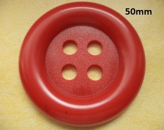 Big button 50 mm red (6800) buttons coat buttons 5 cm