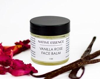 Cleansing Balm - Face Moisturizer - Vanilla Rose Face Cream - Natural Skin Care - Face Cream - Organic Skin Care - Natural Skincare