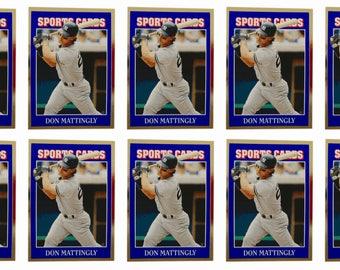 10 - 1992 Sports Cards #56 Don Mattingly Baseball Card Lot New York Yankees