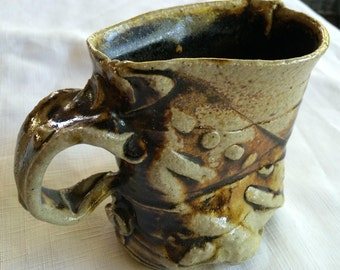 Pottery Pencil Cup,Boho Pencil Cup,Rustic Pencil Cup,Rustic Desk Art,Boho Pencil Holder,Pottery Pencil Mug,Pencil Mug,Pencil Cup,Crafted Mug
