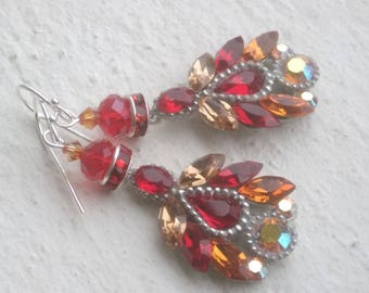 Red and Topaz Swarovski wonders