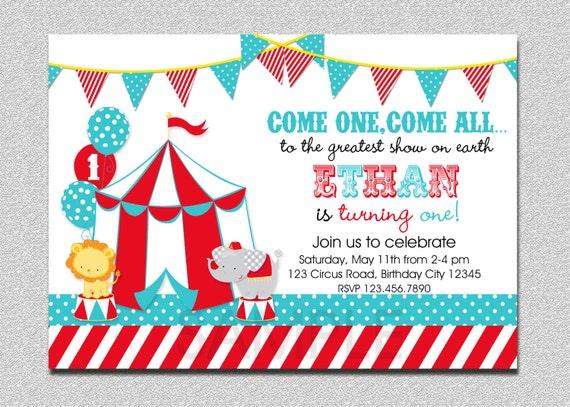 Carnival circus birthday invitation circus carnival birthday like this item solutioingenieria Choice Image