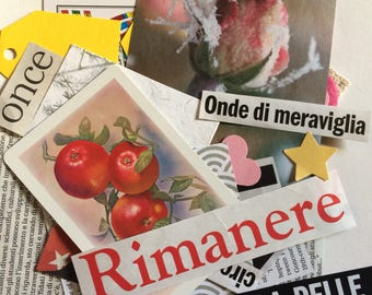"Ephemera Kit ""Rimanere"" (stay)  -25 pcs -"
