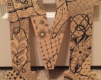 Tangle Art customized letters to order