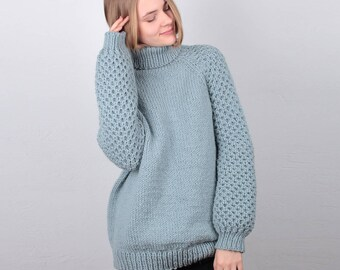 Knitted Sweater - Hand Knit Sweater for Women - Oversized Sweaters - Womens Knitwear - Wool Sweater - Handmade Knit Pullover - Sweater