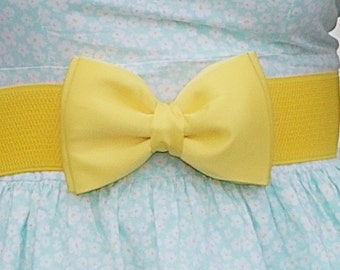 Yellow Bow Belt