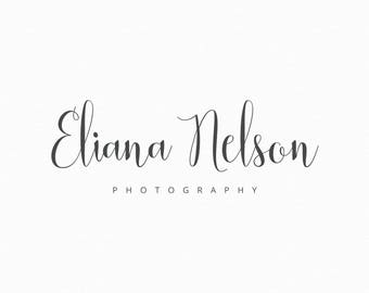 Premade Photography Logo and Watermark Calligraphy Logo Design Photography Watermark Typography Logo Style for Any Business Type - 232