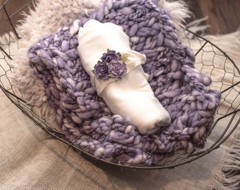 Purple chunky knit photography prop / photo prop / photography
