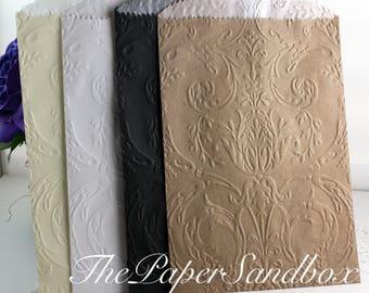"20 Vintage Glassine Lined Paper Bags, 4.75"" x 6.75"", Wedding Favor Bags, Party Favor Bags, Cookie Bags, Candy Bags, Treat Bags,"