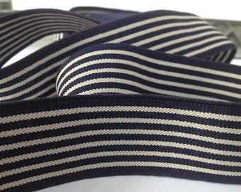 Striped Elastics, elastic by the yard, elastic waistband, elastic band