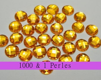 10 appliques round gold 12 mm 2 holes for customisation