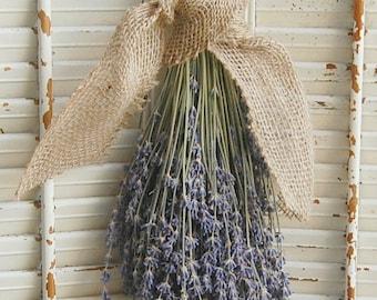 Dried Lavender Bouquet /  French Lavender Bunch / Rustic Wedding Decor / Barn Wedding Decor