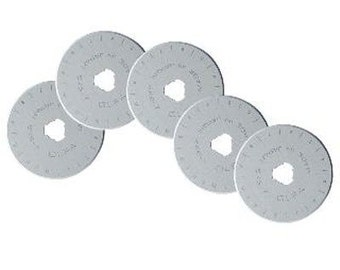 OLFA Rotary Blades (5) - Circular Rotary Replacement Blades for RTY-2/G 45mm Rotary Cutter (W1437)